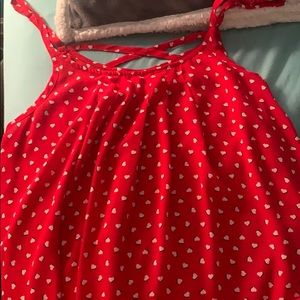 Red tank with white hearts from torrid!